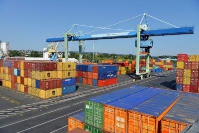 Hafen Andernach Containermengen 2019 auf Rekordniveau